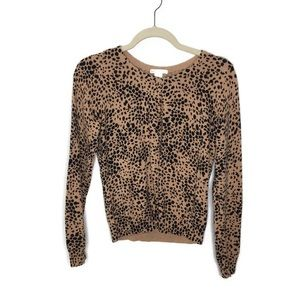 H&M Basic Leopard Cardigan Size Small